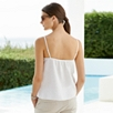 Metallic Trim Linen Camisole Top