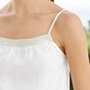 Metallic Trim Linen Camisole Top