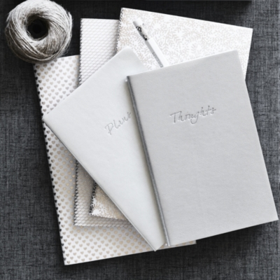 Plans & Thoughts Metallic Notebooks