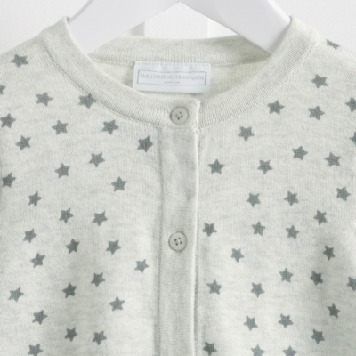 Star Print Knitted Cardigan
