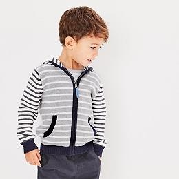 Stripe Knitted Hoodie (1-6yrs)