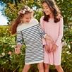 Striped Knit Dress (4-10yrs)