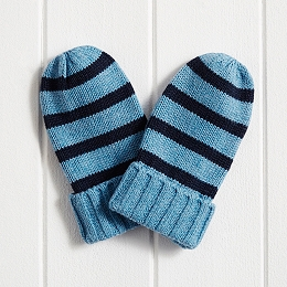 Boys Stripe Mittens