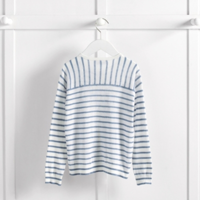 Striped Linen Cardigan (4-10yrs)
