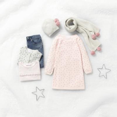 Star Print Knitted Dress