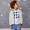 Stripe Trim Knitted Hoodie (4-10yrs)