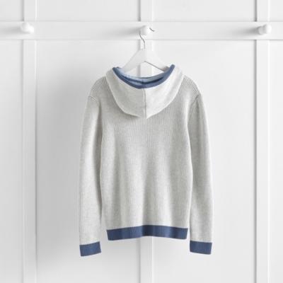 Stripe Trim Knitted Hoodie (4-10yrs)