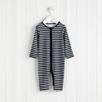 Stripe Zip Up Baby Sleepsuit