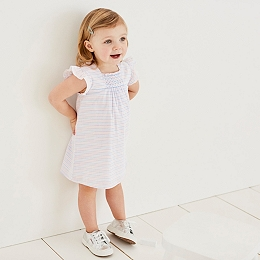 Striped Smocked Dress