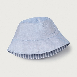 Stripe Hat with Pocket