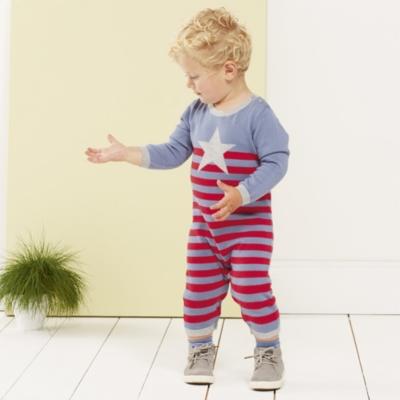 Stripe Knitted Romper