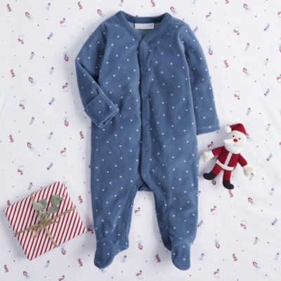 Starry Night Velour Sleepsuit