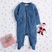 Starry Night Velour Sleepsuit