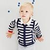 Contrast Stripe Cardigan
