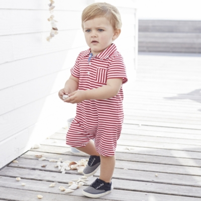 Stripe Jersey Shortie - Post Box Red