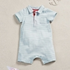 Stripe Jersey Shortie - Pale Blue