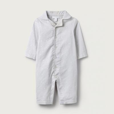 Star Print Flannel Sleepsuit