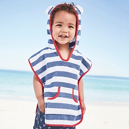 Striped Towelling Cover Up