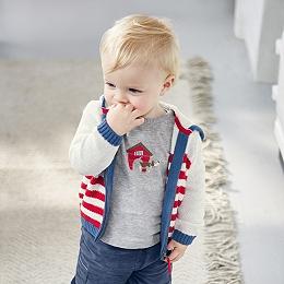 Stripe Zip Hoodie