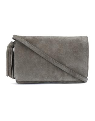 Suede Organiser Tassel Bag