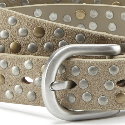 Suede Studded Belt