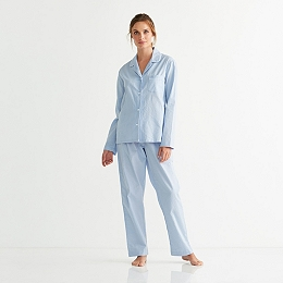 Seersucker Striped Pajama Set