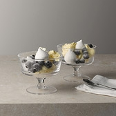 Glass Comport Dessert Dishes - Set of 2