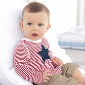 Buy Baby Star Stripe T-Shirt from The White Company
