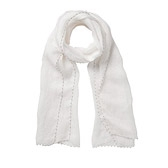 Buy Bead Edge Detail Scarf - White from The White Company