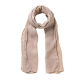 Buy Bead Edge Detail Scarf - Stone from The White Company