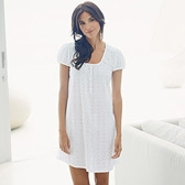 Buy Broderie Nightdress - White from The White Company