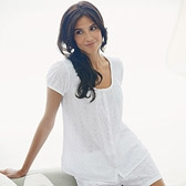 Buy Broderie Pyjama Top - White from The White Company