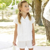 Buy Broderie Short Pyjamas from The White Company