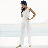 Buy Broderie Sleeve Pyjamas - White from The White Company