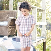 Buy Charlie Check Short Pyjamas from The White Company