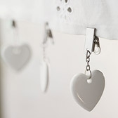 Buy Heart Tablecloth Clips - Set Of 6 from The White Company