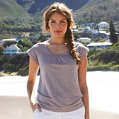 Buy Double Layer Linen T-Shirt - Stone from The White Company