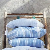 Buy Patmos Stripe Seat Pad from The White Company