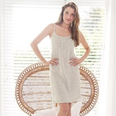 Buy Frill Button Nightdress - Cloud Marl from The White Company
