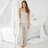 Frill Button Pyjamas - Cloud Marl