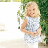 Buy Girls' Cornflower Blouse from The White Company