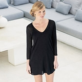 Buy Sparkle Side Slit Tunic - Black from The White Company