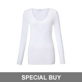 Buy V-Neck T-Shirt - White from The White Company