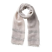 Buy Linen Sequin Detail Scarf - Feather Grey from The White Company