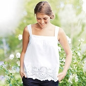 Buy Paisley Broderie Sun Top - White from The White Company