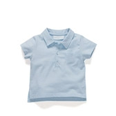 Buy Baby Polo Shirt - Chalk Blue from The White Company
