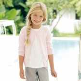 Buy Girls' Sparkle Cardigan - Pink from The White Company