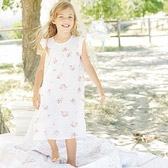 Buy Rose Floral Jersey Nightdress from The White Company