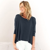 Buy Rectangular Swing T-Shirt - Midnight from The White Company