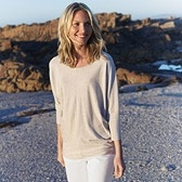 Buy Batwing Jersey T-Shirt - Oatmeal from The White Company